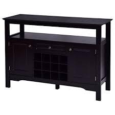 amazon com giantex black buffet server wood cabinet sideboard