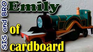 emily train cardboard free gift cardboard models