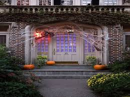 elegant halloween front door decorations