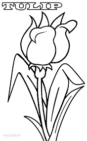 printable tulip coloring pages kids cool2bkids plant