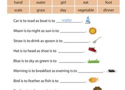 analogies we u0027re related worksheet education com