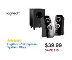 best buy black friday monitor deals 39 99 logitech z323 speaker system black deal at best buy black