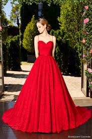 Wedding Dresses In Moonlight Couture Spring 2017 Wedding Dresses Chapel Train Red