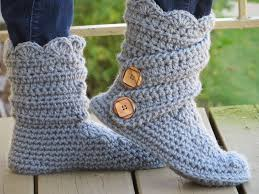 womens slipper boots size 12 free crochet pattern for womens boot slippers crochet and knit