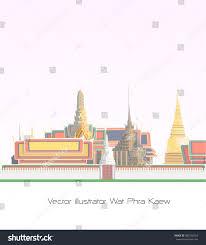 Hindu Temple Floor Plan by Wat Phra Kaew One Temple Most Stock Vector 583705504 Shutterstock