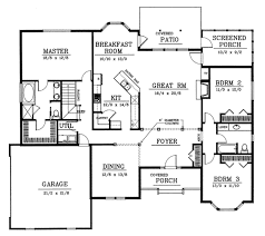 Farmhouse House Plans With Porches Traditional Style House Plan 3 Beds 2 00 Baths 2200 Sq Ft Plan