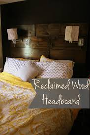 reclaimed wood headboard diy sugar for breakfast reclaimed