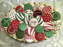 ornament cookies decorated cookies