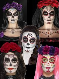 day of the dead makeup tattoo kit halloween sugar skull fancy