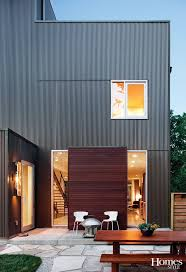 traditional home modern addition corrigated metal siding google