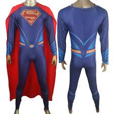 blue jumpsuit costume dc v superman of justice superman