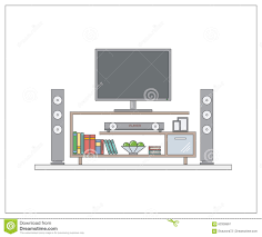 modern home cinema in living room one page web design template