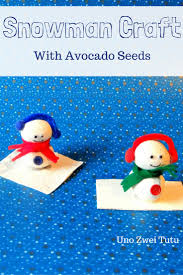 how to make stunning snowmen with avocado seeds avocado seed