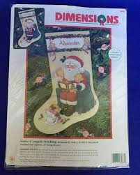 santa u0026 angels stocking crewel embroidery kit morehead christmas
