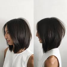 soft under cut hair women s soft layered undercut bob with curtain part and straight
