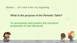 what is the purpose of the periodic table the periodic table a not so serious introduction