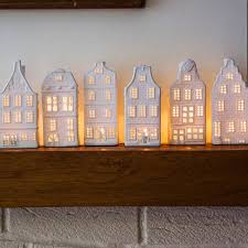 porcelain canal house tea lights six designs light design