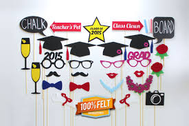 Homemade Photo Booth 100 Felt Graduation Photo Booth Props 28 Piece Graduation