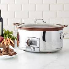 all clad gourmet slow cooker with all in one browning 7 qt