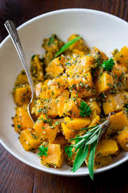 easy garlic herb butternut squash healthy seasonal recipes