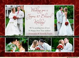 newly wed christmas card collage card joyous photos newlywed blessed
