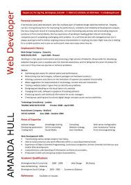 Sample Resume For Net Developer With 2 Year Experience by Web Developer Resume Example Cv Designer Template Development