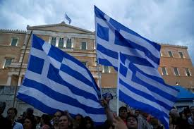 Greek Flag Background Financial Future Of Greece Hangs In The Balance