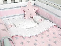 Complete Crib Bedding Sets Pink Organic Cot Baby Bedding Set