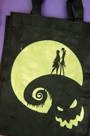 nightmare before tote bag