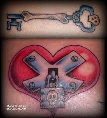 lock u0026 key tattoo skulls