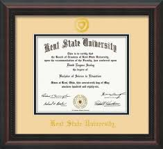 ohio state diploma frame kent state u diploma frame mahog braid w kentseal on black