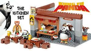 lego kitchen island kung fu panda 3 the kitchen set unofficial lego set speed build w