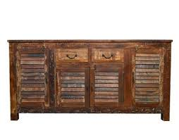 reclaimed industrial sideboard buffet table storage with louvers