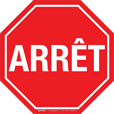 stop sign french floor sign creative safety supply