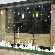 paper flower decorations picture more detailed picture about christmas window sticker eiffel tower white castle snow glass window wall sticker christmas stickers wallpaper home