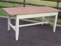 A Hand Made Irish Style Reclaimed Pine  Painted Farmhouse Kitchen - Old pine kitchen table