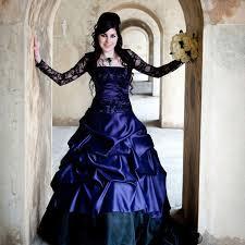 Purple Wedding Dresses Stunning Purple Gothic Wedding Dress Offbeat Alternative French