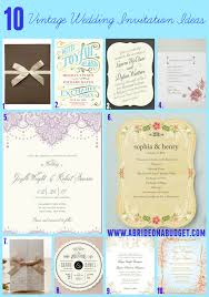 vintage wedding invitations cheap 10 vintage wedding invitation ideas a on a budget