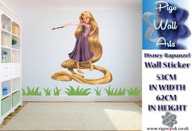 disney rapunzel wall sticker children s bedroom decor large girls disney rapunzel wall sticker