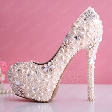 wedding shoes closed toe luxurious baby pink pearl flowers closed toe stiletto heel wedding