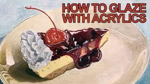 how to glaze with acrylics