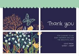 baby shower thank you cards floral baby shower thank you card templates by canva