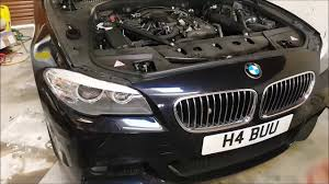 kereta bmw 5 series bmw f10 520d engine oil change complete how to youtube