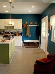 Teal Kitchen Cabinets All I Would Have To Do To Get This Is Paint My Walls U0026 Ceiling