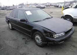1991 honda accord jhmcb7662mc098186 salvage certificate black honda accord at