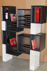 modern cube wine rack amazing modern wine rack in kitchen