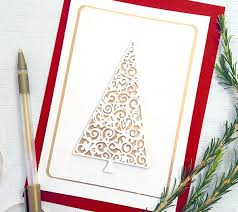 fancy christmas fancy christmas tree card 100 directions
