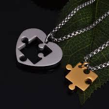 puzzle love necklace images Couple puzzle heart love necklace boho han jpg