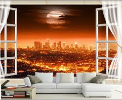 bright lights for room the latest 3d mural 3d beautiful city night view outside the window