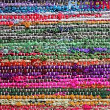 Rag Area Rug by 100 Cotton Handmade Multi Colour Chindi Rug Area Rag Rugs Flat